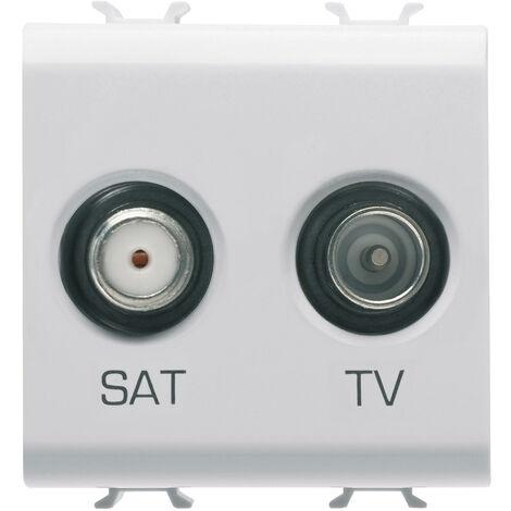GEWISS GW10383 - PRESA TV+SAT 2M BIANCO