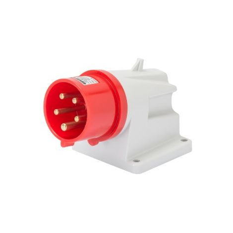 Gewiss GW60420 90° Angled Surface Mounting Inlet - IP44 - 3P+N+E 32A 380-415V 50/60HZ - Red - 6H - Screw Wiring