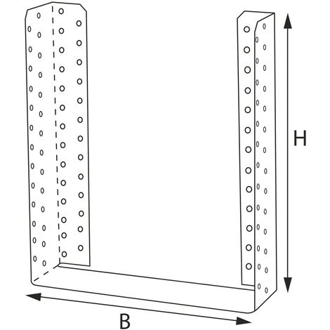 GH Balkenschuh 05/2 innenliegend - Stahl feuerverzinkt