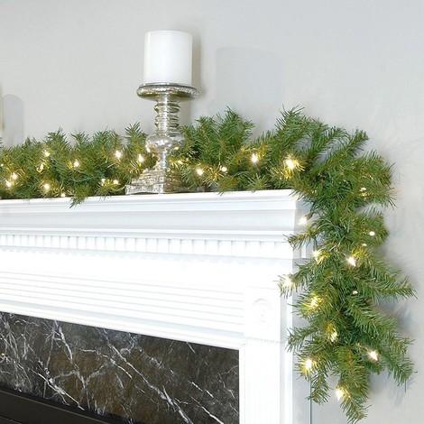 Decorazioni Natalizie A Led.Ghirlanda Natalizia 350cm 200 Punte 120 Luci Led Bianco Caldo Decorazioni Natale 011255