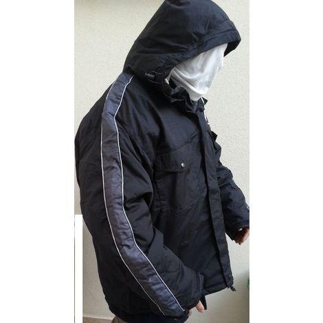 Los Angeles 0ac28 c71de Giacca a vento nero giaccone parka poliestere pvc nylon tg xxl con cappuccio