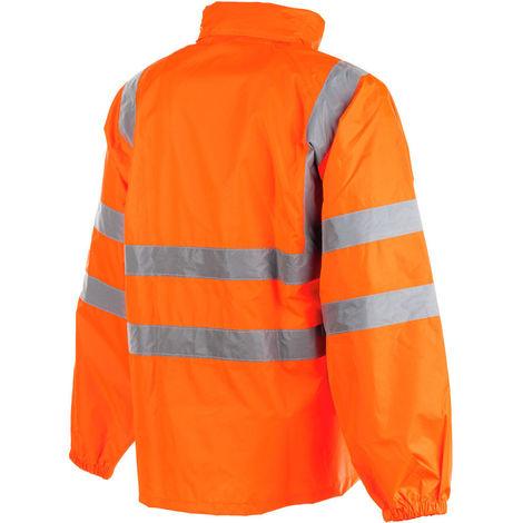 info for dfee8 4144f Giacca giaccone antipioggia alta visibilità realizzato tessuto poliestere  tg xxl