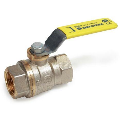 GIACOMINI-Válvula de bola de latón niquelado, con conexiones FF.R950