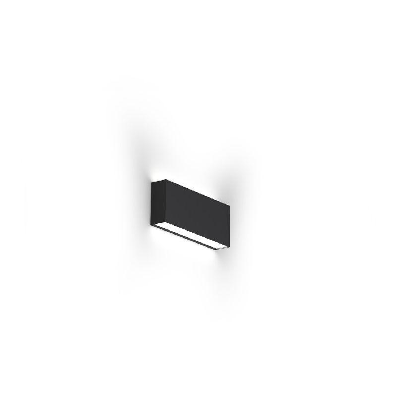 Homemania - Giano PANTONE Wandleuchte - PANTONE Wandleuchte - Rechteckig - Schwarz, Weiss aus Aluminium, 23,5 x 4,2 x 9,8 cm, 1 x LED, 13W, 818lm,