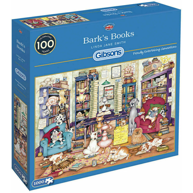 Image of Gibsons 1000 Piece Bark'S Books Jigsaw Puzzle