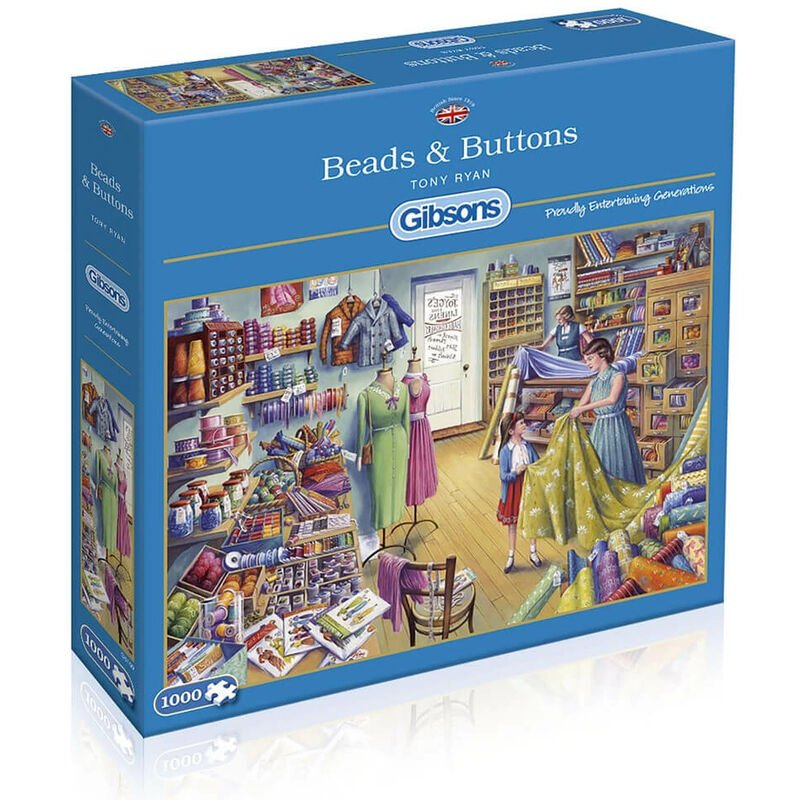 Image of Gibsons 1000 Piece Beads & Buttons Jigsaw Puzzle