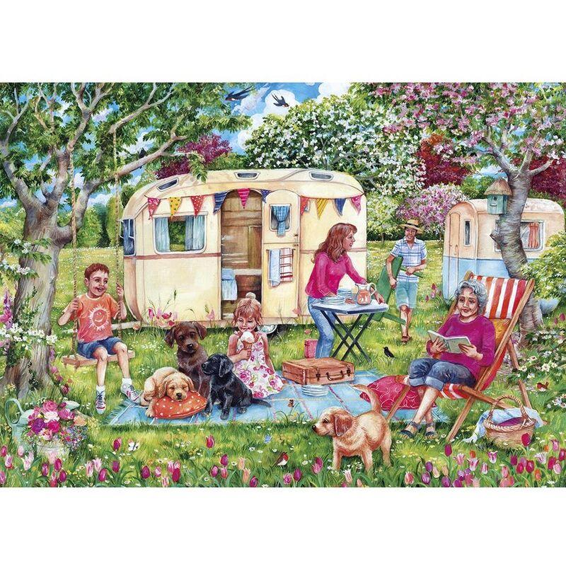Image of Gibsons 1000 Piece Caravan Escape Jigsaw Puzzle