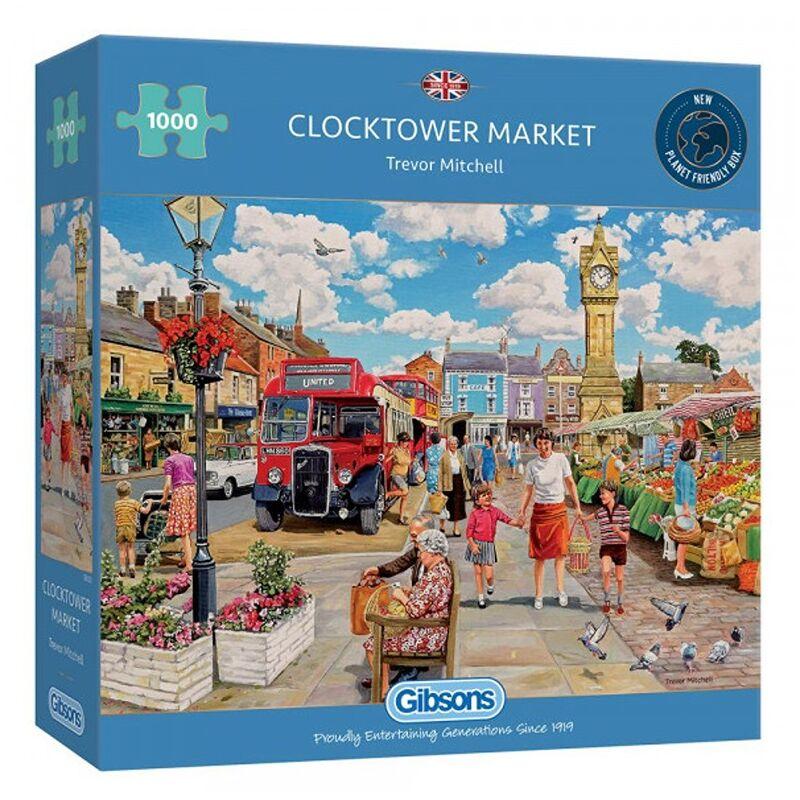 Image of Gibsons 1000 Piece Clocktower Market Jigsaw Puzzle