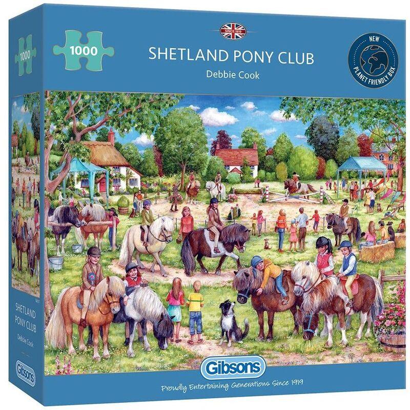 Image of Gibsons 1000 Piece Shetland Pony Club Jigsaw Puzzle
