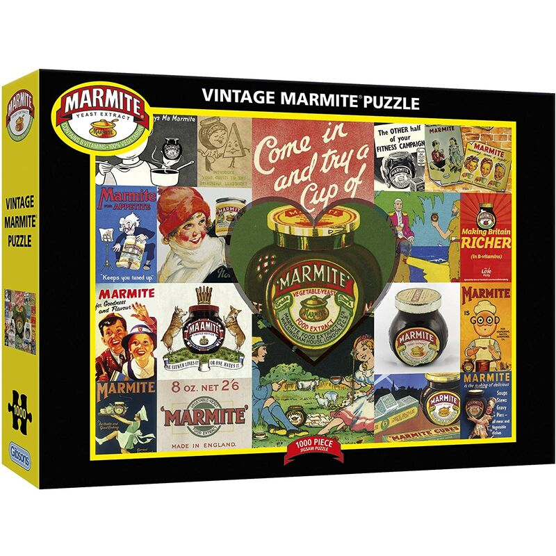 Image of Gibsons 1000 Piece Vintage Marmite Jigsaw Puzzle