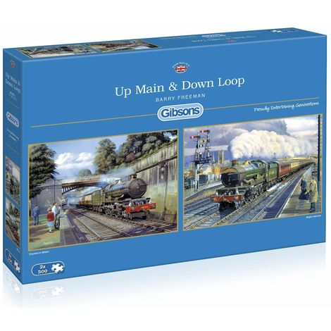 Gibsons 2x500 piece Up Main & Down Loop Jigsaw Puzzle,
