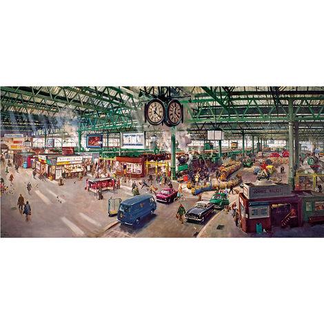 Gibsons 636 Piece Jigsaw Puzzle 636 Piece Under the Clock