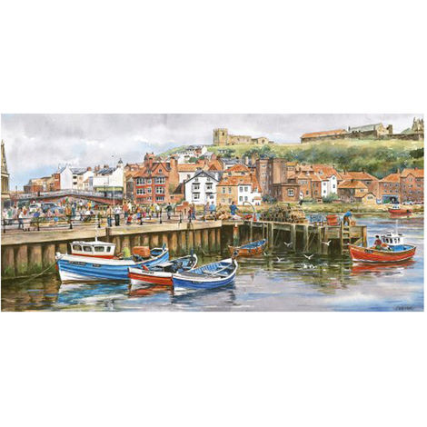 Gibsons 636 Piece Panoramic Jigsaw Whitby Harbour