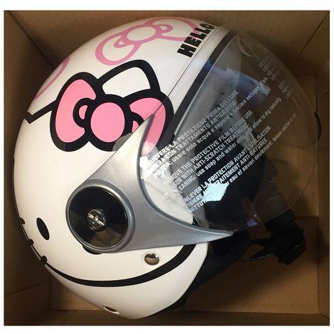 "Gici HK533 Kid Helmet Jet ""Hello Kitty"" - Size JL 54 - candy pattern - white"