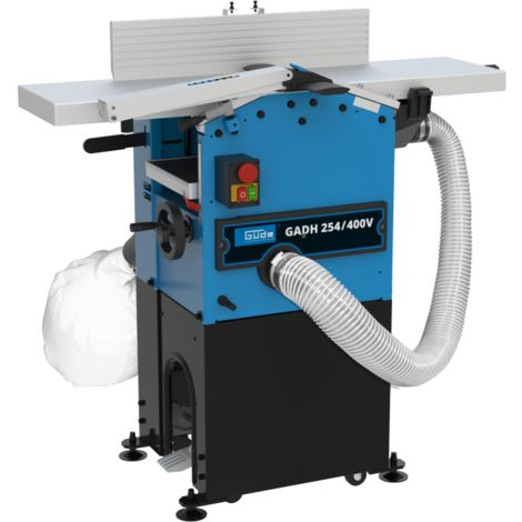 G�DE GADH 254 / 400V - Cepillo regrueso/desgruesadora de banco 1500W con base a tierra, accionada en trif�sico 400 V. Apta para uso intensivo