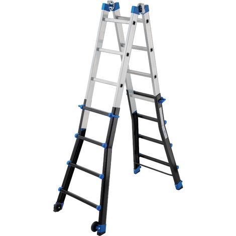 GIERRE AL065 - Escalera multifunción telescópica de aluminio PEPPina Pro (4x4)