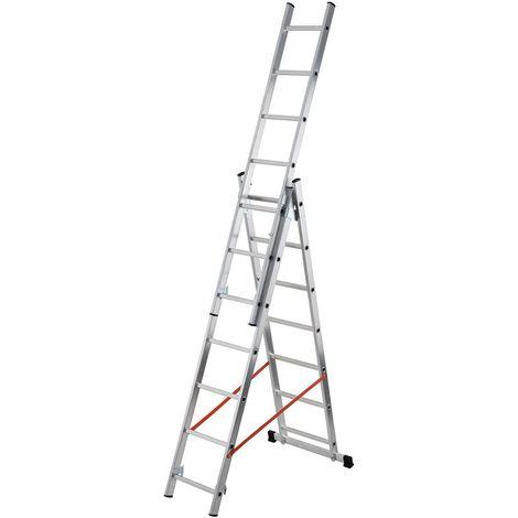 GIERRE AL405 - Escalera 3 tramos combinada de aluminio Modula 3x7