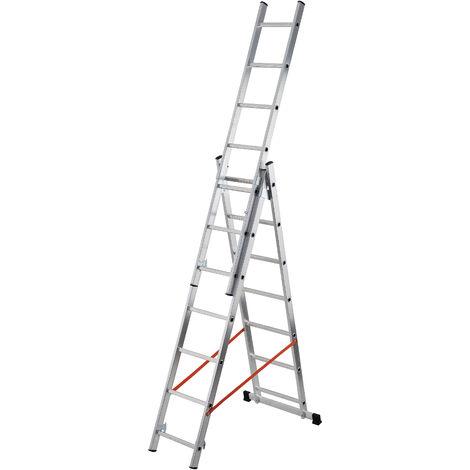 GIERRE AL445 - Escalera 3 tramos combinada de aluminio Modula 3x12