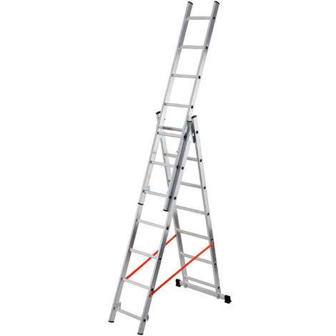 GIERRE-AL450 - Escalera 3 tramos combinada de aluminio Modula 3x14