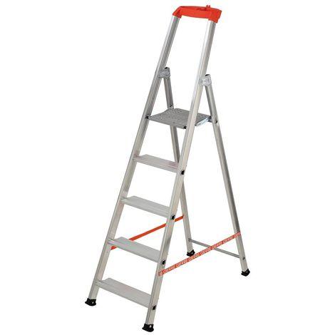 GIERRE AL720 - Escalera de aluminio de tijera Stabila (5 peldaños)