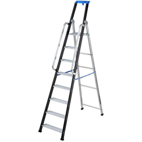 GIERRE AL790 - Escalera profesional de aluminio de tijera Stabila Pro (12 peldaños)