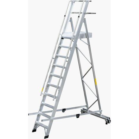 Gierre - Escalera de plataforma aluminio Eterna