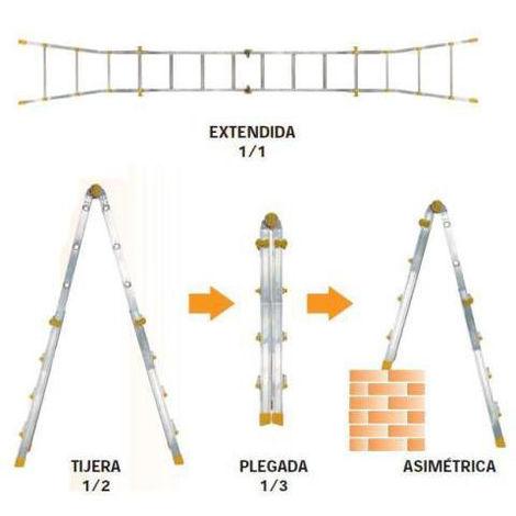Gierre - Escalera telescópica de aluminio EN131 - Peppina