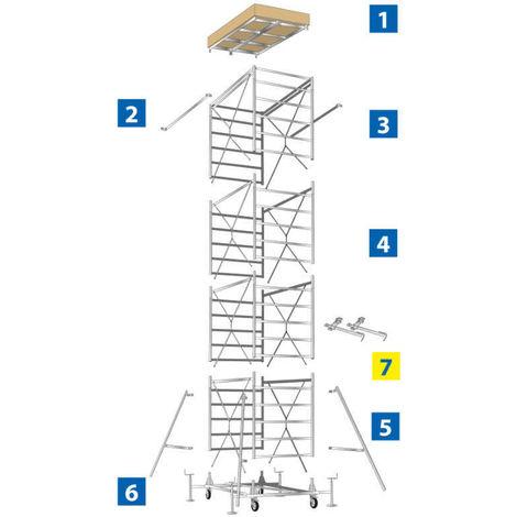 GIERRE MACOPRA0040 - 2 Barras laterales protectoras de andamio de acero TR