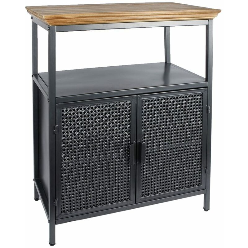 Image of Storage Cabinet Freek Metal Black 36.5x66x78cm - Black - Gifts Amsterdam