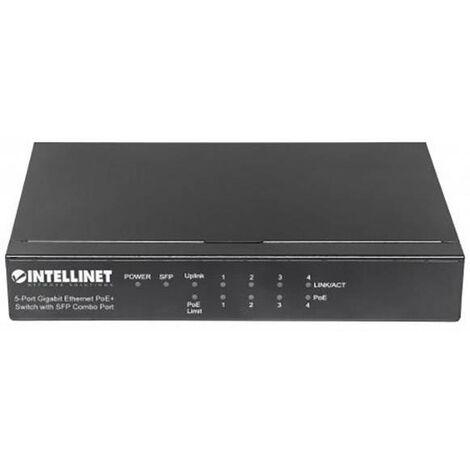 Gigabit Ethernet (10/100/1000) Intellinet 561174 énergie via Ethernet (PoE) noir X864161