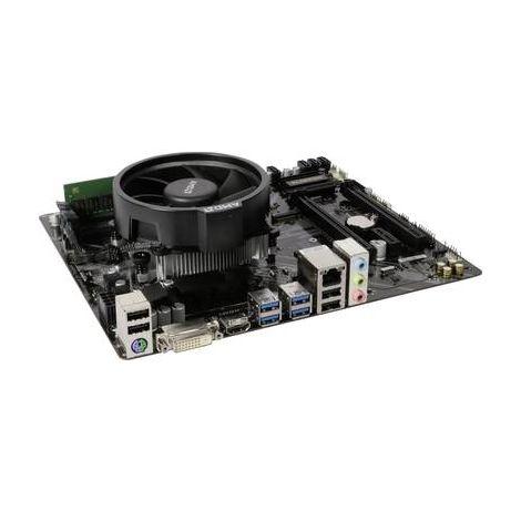Gigabyte;Kit tuning PC (gaming);AMD Ryzen 5;2400G(4 x;3.6 GHz ) 8 Go;AMD Radeon Vega Graphics;Vega 11;Micro-ATX
