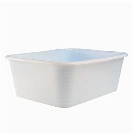 GILAC - Baquet rectangulaire 30 L - blanc