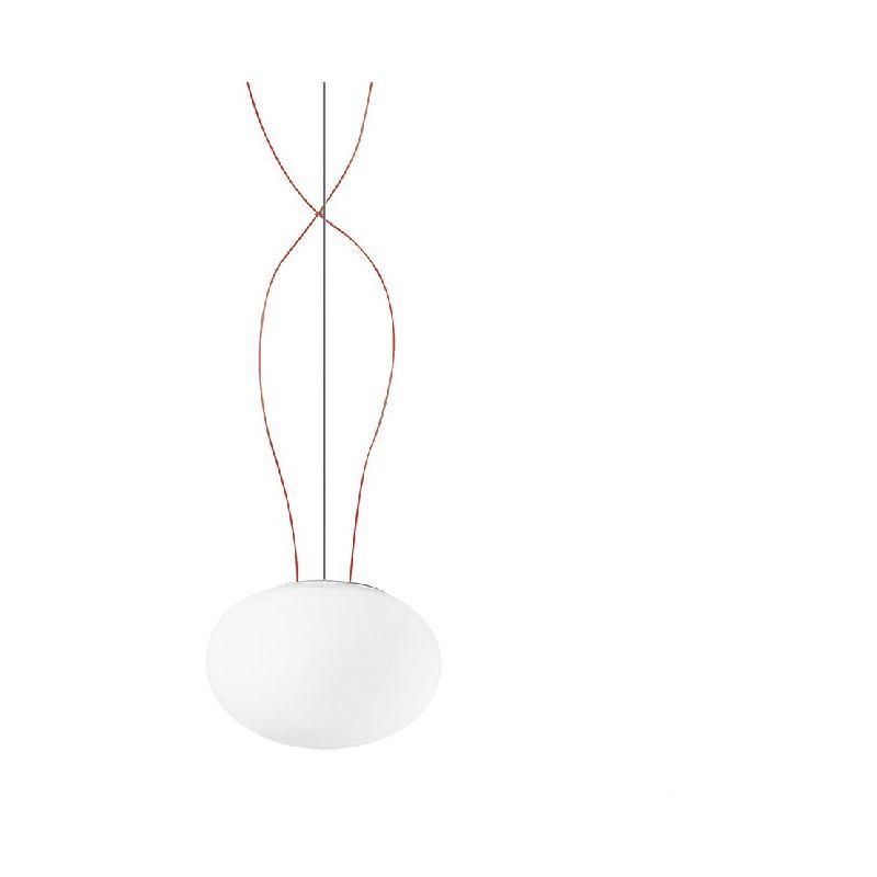 Homemania - Gilbert Haengelampe - Kronleuchter - Deckenkronleuchter - Weiss, Rot aus Glas, 22 x 22 x 14 cm, 1 x E27, Max 60W, 220-240V