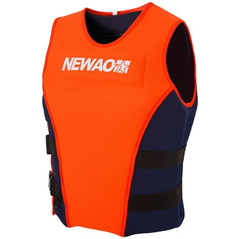 Gilet De Sauvetage En Neoprene, Gilet De Sauvetage Pour Sports Nautiques, Gilet De Flottabilite, Taille L