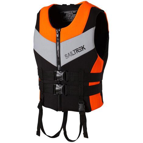 Gilet De Sauvetage En Neoprene, Maillot De Bain De Flottabilite Gilet De Sauvetage Pour Sports Nautiques, Orange, Taille Xxl