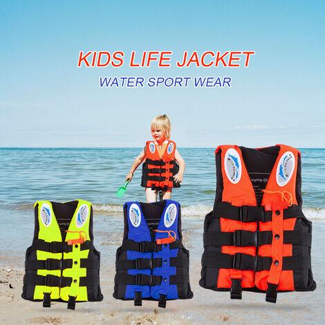 Gilet De Sauvetage Enfant, Gilet De Securite Pour Sports Nautiques, Orange, Taille Xs