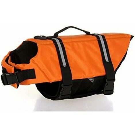Gilet de sauvetage pour chien avec bandes réfléchissantes, ceinture réglable, gilet de sauvetage pour chien - tailles différentes