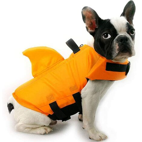 Gilet de sauvetage pour chien - Gilet de sauvetage pour chien - Gilet de sauvetage réglable avec poignée de sauvetage - Pour rivière, piscine, plage, bateau M