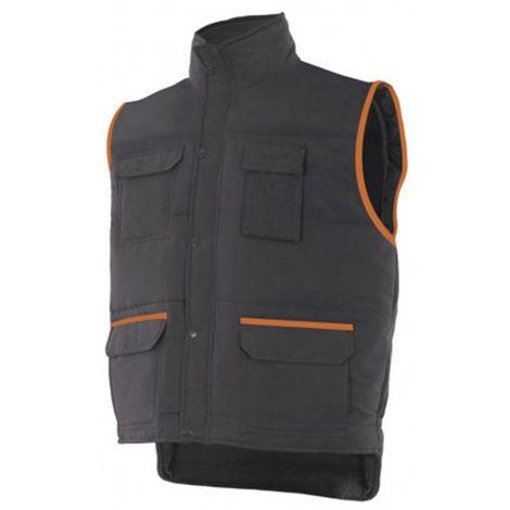 comment chercher correspondant en couleur site autorisé Gilet de travail bicolore multipoches homme 100% polyester 120 gr/m2 -  Noir/Orange - P108 - Velilla