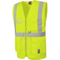 Gilet de travail haute visibilité multipoches EN20471 Würth MODYF jaune
