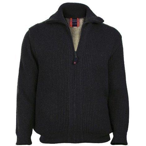 Gilet fourré en laine manches longues - Noir - 2