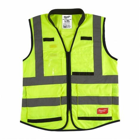 Gilet haute visibilité jaune Premium L/XL   4932471896 - Milwaukee