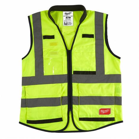 Gilet haute visibilité jaune Premium S/M   4932471895 - Milwaukee