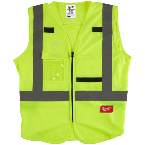 Gilet haute visibilité jaune S/M   4932471889 - Milwaukee