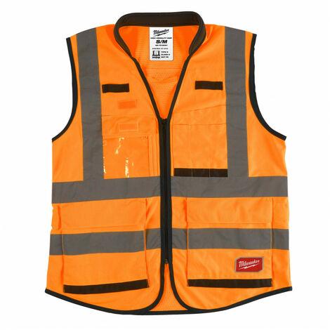 Gilet haute visibilité orange Premium L/XL   4932471899 - Milwaukee