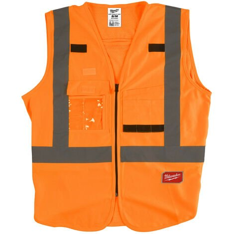 Gilet haute visibilité orange S/M   4932471892 - Milwaukee