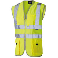 Gilet jaune de sécurité haute visibilité Dickies Technique Jaune Fluo