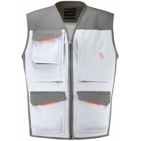 Gilet multi poches blanc peintre Industry KAPRIOL - plusieurs modèles disponibles