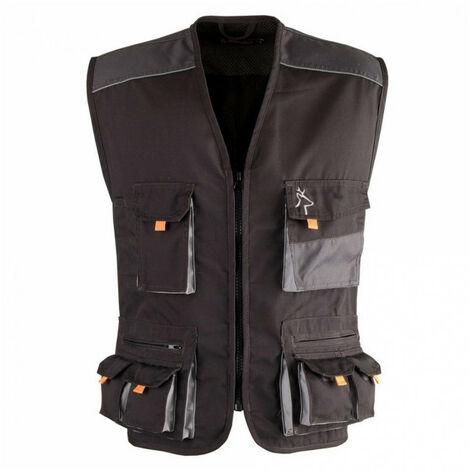 Gilet multi poches SMART noir-gris KAPRIOL - plusieurs modèles disponibles