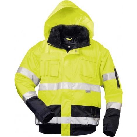 Gilet polaire Haute visibilité Siegfried, Taille S, jaune/marine